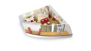 AIDA Cruises-AIDAblu-AIDAmar-AIDAsol-AIDAstella-AIDA-Blu-Mar-Sol-Stella-Cruiseschip-Categorie SB-Premium Suite Prive zonnedek-diagram