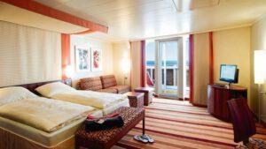 AIDA Cruises-AIDAblu-AIDAmar-AIDAsol-AIDAstella-AIDA-Blu-Mar-Sol-Stella-schip-Cruiseschip-Categorie SD-Junior Suite met Balkon
