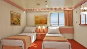 Carnival-cruise-line-Carnival-Conquest-Glory-Valor-Liberty-Freedom-schip-cruiseschip-categorie 4J-Binnenhut-beperkt zicht