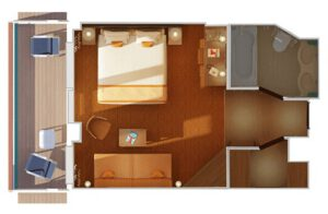 Carnival-cruise-line-Carnival-Horizon-Carnival-Vista-schip-cruiseschip-categorie JS-Junior-Suite-diagram