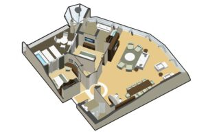 Celebrity Cruises-Celebrity-Reflection-schip-cruiseschip-Categorie RF-Reflection-Suite-diagram