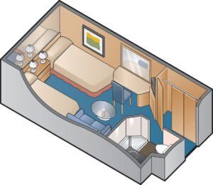 Celebrity Cruises-Celebrity-Summit-Celebrity-Millenium-schip-Cruiseschip-Categorie 09-10-11-12-binnenhut-diagram