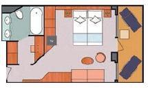 Costa Cruises-Costa Fortuna-Costa Magica-Schip-Cruiseschip-Categorie S-Suite-diagram