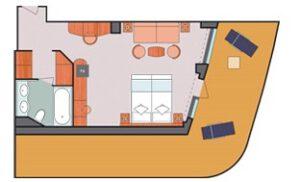 Costa Cruises-Costa Luminosa-Costa-Deliziosa-Schip-Cruiseschip-Categorie PS-Panorama Suite-diagram
