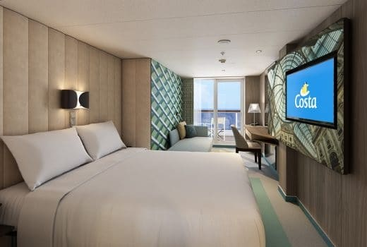 Costa Cruises-Costa Smeralda-Costa Toscana-schip-Cruiseschip-Categorie BP-BC-BV-Balkonhut