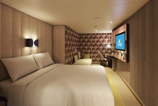 Costa Cruises-Costa Smeralda-Costa Toscana-schip-Cruiseschip-Categorie IP-IC-IV-Binnenhut