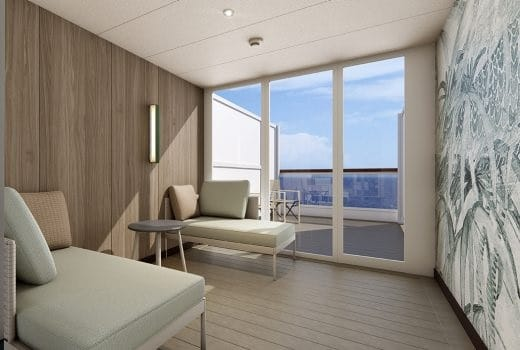 Costa Cruises-Costa Smeralda-Costa Toscana-schip-Cruiseschip-Categorie TP-TC- suite met terras