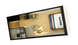 Cunard-Queen Mary 2-schip-Cruiseschip-Categorie IA-IB-IC-IE-IF-Binnenhut-diagram