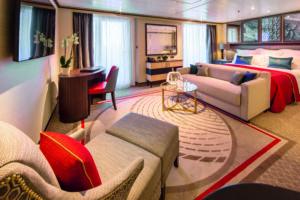 Cunard-Queen Mary 2-schip-Cruiseschip-Categorie Q4-Q5-Q6-Q7-Queens Suite