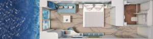 Hapag Lloyd-Hanseatic Inspiration-schip-Cruiseschip-Categorie 3-5-french balcony cabin-diagram