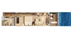 Hapag Lloyd-MS Europa 2-schip-Cruiseschip-Categorie 0-1-2-3-4-5-veranda suite-diagram