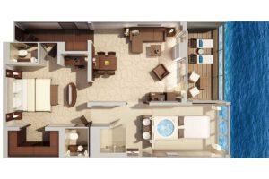 Hapag Lloyd-MS Europa 2-schip-Cruiseschip-Categorie 10-grand penthouse suite-diagram