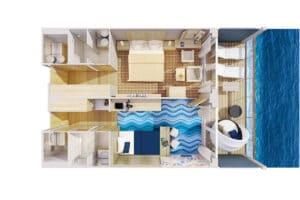 Hapag Lloyd-MS Europa 2-schip-Cruiseschip-Categorie 12-family apartment-diagram