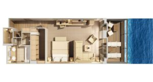 Hapag Lloyd-MS Europa 2-schip-Cruiseschip-Categorie 8-9-13-penthouse suite-diagram
