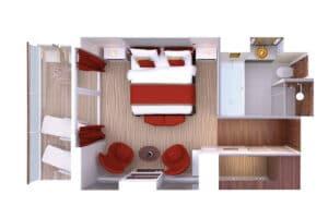 Hapag Lloyd-MS Europa-schip-Cruiseschip-Categorie 10-spa suite-diagram
