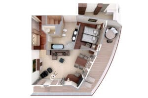 Hapag Lloyd-MS Europa-schip-Cruiseschip-Categorie 9-penthouse grand suite-diagram