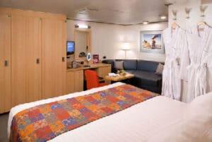 Holland America Line-Eurodam-Nieuw Amsterdam-schip-Cruiseschip-Categorie IQ-I-J-K-L-M-MM-N-binnenhut