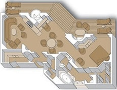 Holland America Line-Eurodam-Nieuw Amsterdam-schip-Cruiseschip-Categorie PS-Pinnacle Suite-diagram