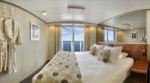 Holland America Line-Eurodam-Nieuw Amsterdam-schip-Cruiseschip-Categorie VQ-VT-Spa balkonhut