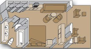 Holland America Line-Eurodam-schip-Cruiseschip-Categorie SS-SY-SZ-SQ-Spa-Signature Suite-diagram