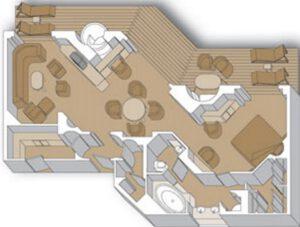 Holland America Line-Noordam-Oosterdam-Westerdam-Zuiderdam-schip-Cruiseschip-Categorie PS-Pinnacle Suite-diagram