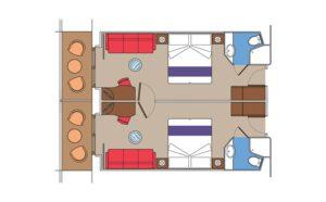 MSC-Cruises-MSC-Fantasia-MSC-Splendida-MSC-Preziosa-MSC-Divina-schip-cruiseschip-categorie FLA-Super-familiehut-diagram