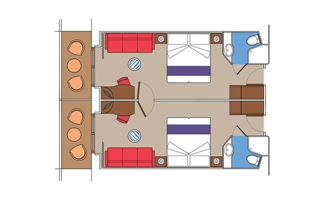 MSC-Cruises-MSC-Fantasia-MSC-Splendida-MSC-Preziosa-MSC-Divina-schip-cruiseschip-categorie FLA-Super-familiehut-diagram