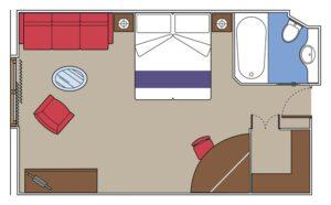 MSC-Cruises-MSC-Fantasia-MSC-Splendida-MSC-Preziosa-MSC-Divina-schip-cruiseschip-categorie SP3-SP2-Panorama-Suite-diagram