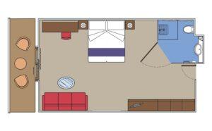 MSC-Cruises-MSC-Fantasia-MSC-Splendida-schip-cruiseschip-categorie S3-Suite-diagram