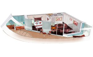 MSC-Cruises-MSC-Grandiosa-MSC-Virtuosa-schip-cruiseschip-categorie SE3-SJ3-Grand-Suite-met bubbelbad-diagram