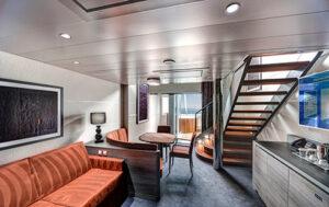 MSC-Cruises-MSC-Grandiosa-MSC-Virtuosa-schip-cruiseschip-categorie YCD-Yacht-club-Dublex-Suite