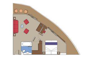 MSC-Cruises-MSC-Preziosa-MSC-Divina-schip-cruiseschip-categorie S3-Suite-diagram