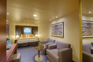 MSC-Cruises-MSC-Preziosa-schip-cruiseschip-categorie O1-O2-buitenhut-beperkt zicht