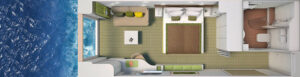 Hapag Lloyd-Hanseatic Nature-schip-Cruiseschip-Categorie 2-panoramic cabin-diagram