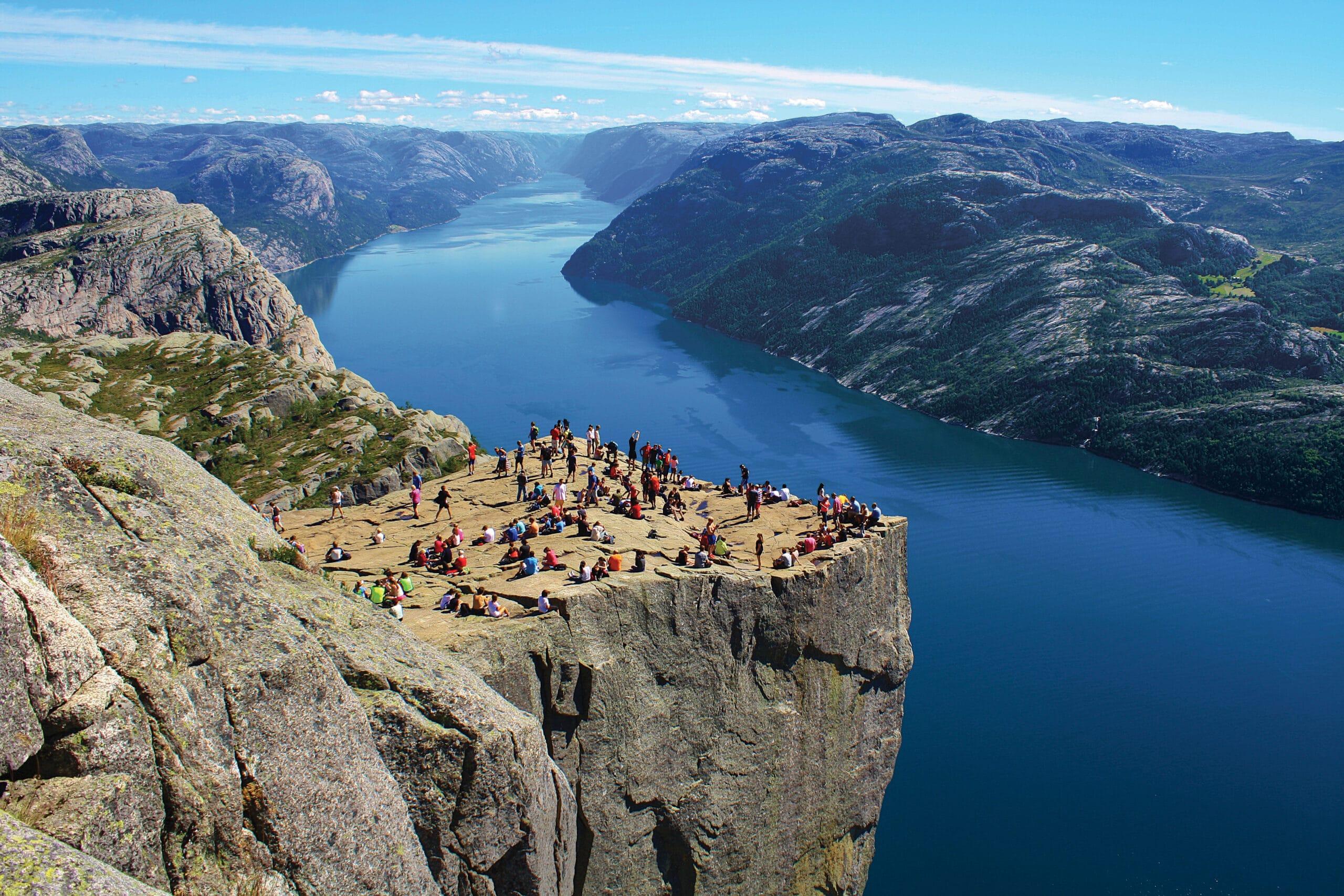 Noord-Europa-Noorwegen-Preikestolen