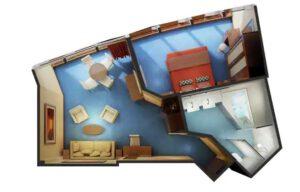 Norwegian-cruise-line-Norwegian-Dawn-schip-cruiseschip-categorie S6-deluxe owner Suite-diagram