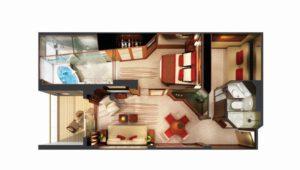 Norwegian-cruise-line-Norwegian-Epic-schip-cruiseschip-categorie H6-the haven 2 bedroom familie villa-diagram