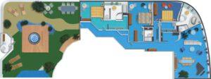 Norwegian-cruise-line-Norwegian-Star-schip-cruiseschip-categorie S1-3bedroom garden villa-diagram