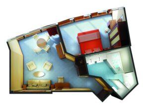 Norwegian-cruise-line-Norwegian-star-schip-cruiseschip-categorie S6-deluxe owner Suite-diagram
