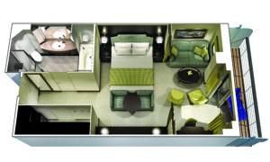 Oceania Cruises-Oceania-Marina-Riviera-Schip-Cruiseschip-Categorie PH1-PH2-PH3-Penthouse Suite-diagram
