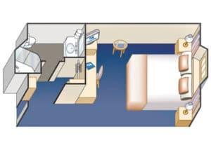 Princess-cruises-Crown-princess-schip-cruiseschip-categorie OB-OC-OE-OF-buitenhut-diagram