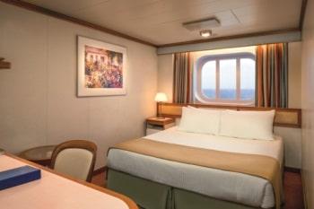 Princess-cruises-Crown-princess-schip-cruiseschip-categorie OV-OW-OY-OZ-buitenhut beperkt zicht