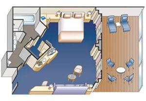 Princess-cruises-Crown-princess-schip-cruiseschip-categorie S2-S3-S4-S5-S6-suite met balkon-diagram