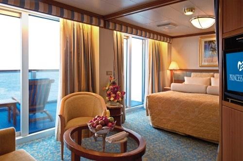 Princess-cruises-Crown-princess-schip-cruiseschip-categorie S2-S3-S4-S5-S6-suite met balkon