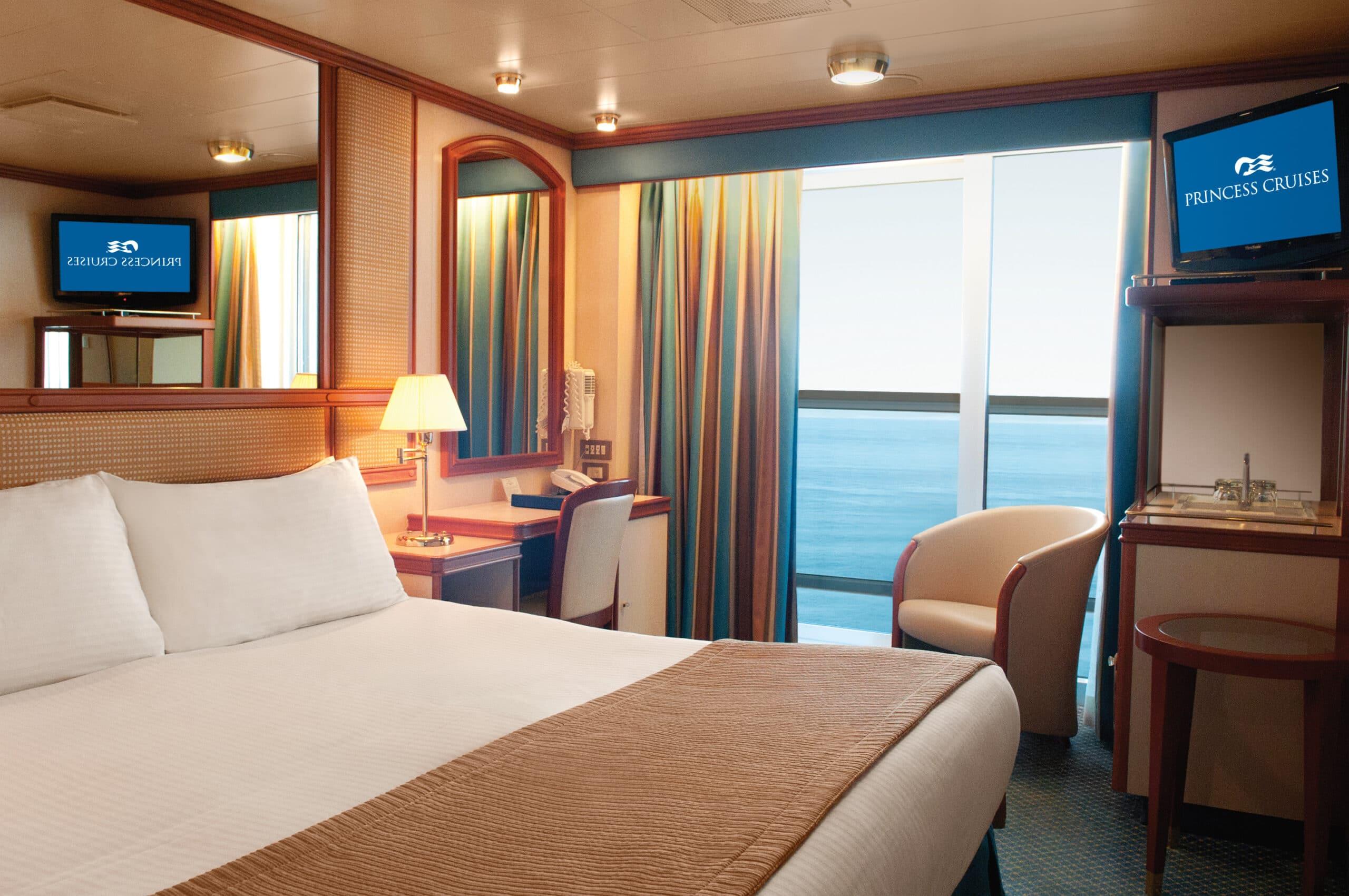 Princess-cruises-Crown-princess-schip-cruiseschip-categorie b1-b2-b4-ba-bb-bc-bd-be-bf-balkonhut