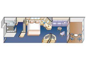 Princess-cruises-Crown-princess-schip-cruiseschip-categorie m1-clubclass minisuite-diagram