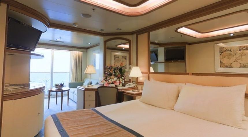 Princess-cruises-Crown-princess-schip-cruiseschip-categorie m1-clubclass minisuite