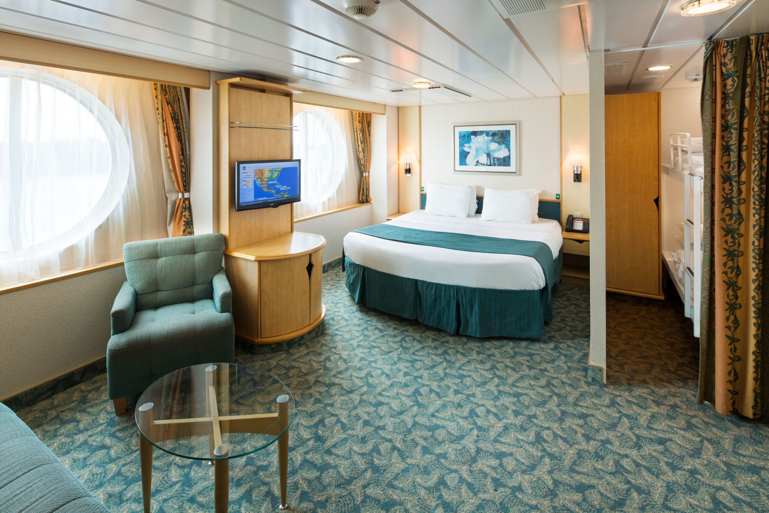 Royal-Caribbean-International-Freedom-of-the-Seas-Liberty-of-the Seas-Independence-of-the-seas-schip-cruiseschip-categorie 1K-Ultra ruime buitenhut