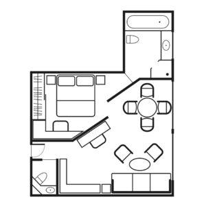 Seadream-Seadream-1-Seadream-2-schip-cruiseschip-categorie OS-Owner-Suite-diagram