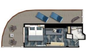 TUI Cruises-Mein Schiff 1-Mein Schiff 2-Schip-Cruiseschip-categorie-Premium-Balkonhut-diagram